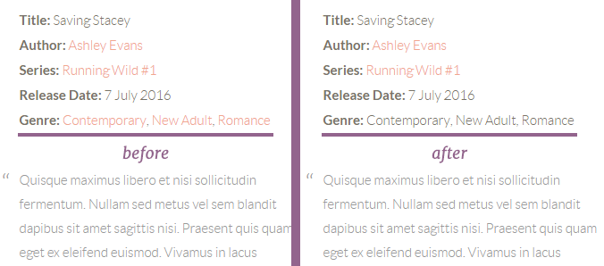 Linked genre archives on the left and plain text genre names on the right
