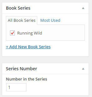 Book series settings