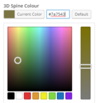 Colour picker for choosing a spine colour