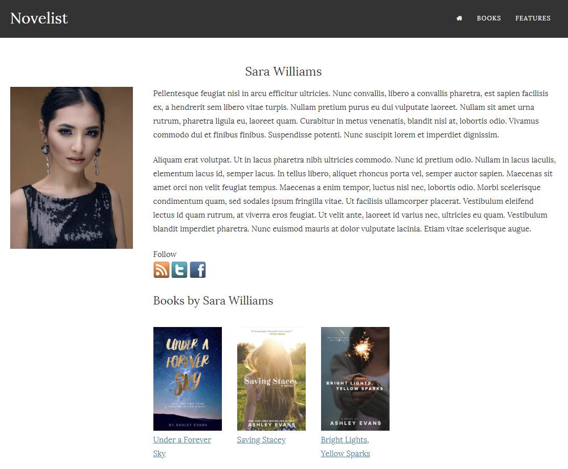 Public author profile